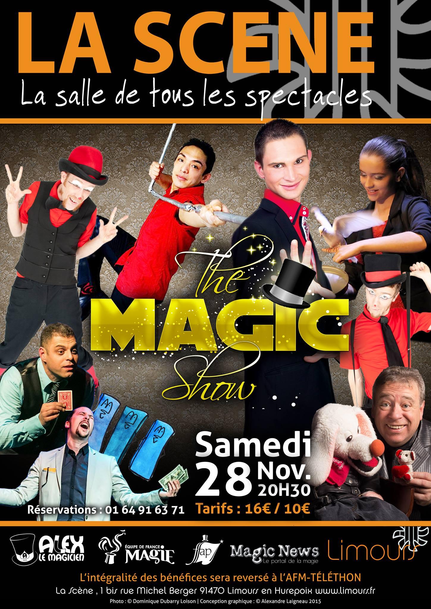 Affiche-The-Magic-Show-spectacle-de-magie-Limours-Téléthon